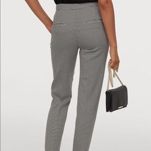 H&M Houndstooth High Rise Straight Leg Pants